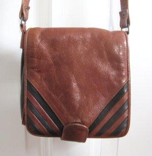 Süße kleine Tasche Vintage Braun Schwarz Handtasche 70s 80s
