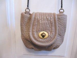 Süße kleine Tasche von ZARA Grau-Beige Abendtasche Ketten-Träger
