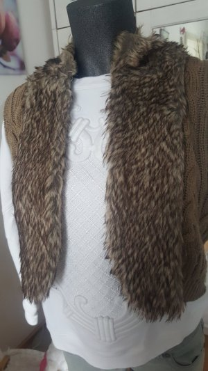 3 Suisses Vest grey brown-brown