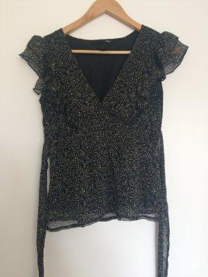Süße kurzärmlige Bluse mit Blumenprint