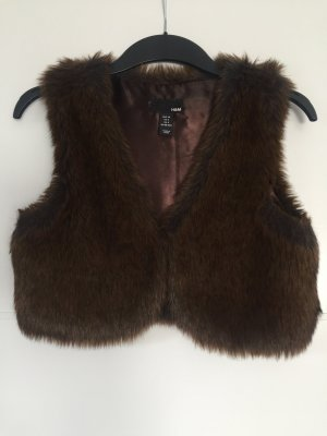 H&M Vest dark brown