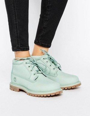 Süße Leder Boots Stiefeletten Timberlands in mint grün 39 Neu!