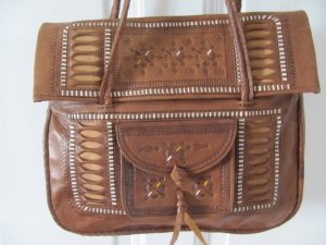 Carry Bag cognac-coloured leather