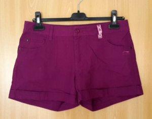 Pantalón corto de tela vaquera violeta azulado