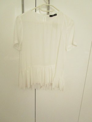 Mango collection Short Sleeved Blouse natural white