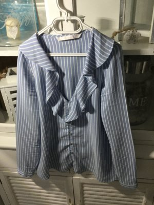 Zara Trafaluc Camicetta da notte azzurro-blu acciaio