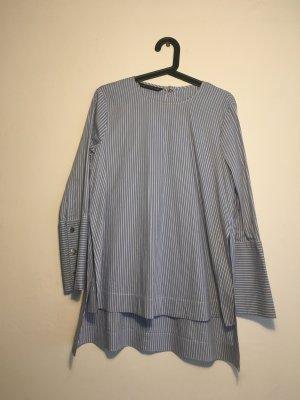 Süße Maxi-Bluse mit Streifenmuster Zara streifen blau Weiß S 34-38 tragbar Business