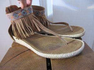 Süße Mokassin Hippie Sandalen Zehentreter FlipFlops