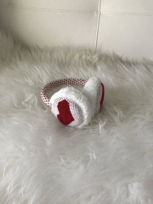 Earmuff white-dark red
