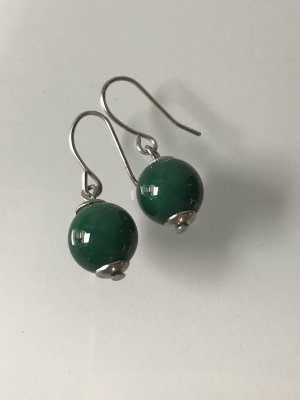 Pearl Earring light grey-forest green synthetic material