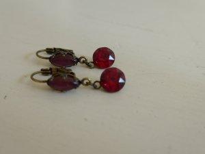 Süße Ohrringe von Konplott, rot, lila