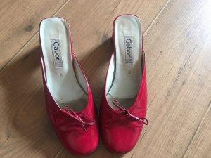 Gabor Heel Pantolettes dark red
