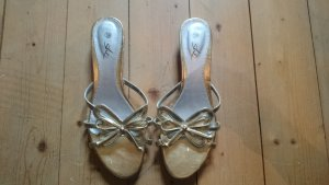 Heel Pantolettes silver-colored-gold-colored