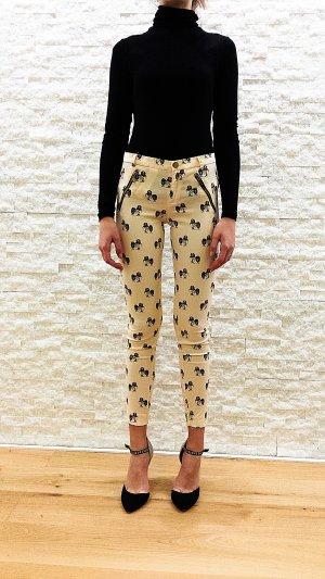 Zara Trafaluc 7/8 Length Trousers multicolored cotton