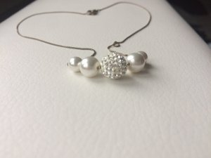süße Perlenkette mit Glitzer
