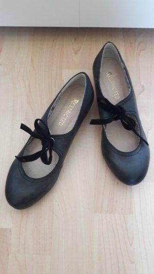Süße Pumps Ballerinas mit kleinem Absatz zum Binden Gr. US 6 EU 37