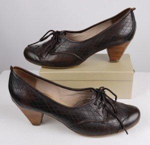 Janet D Escarpins à lacets brun foncé-brun cuir