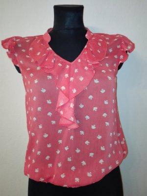 Süße romantische Bluse mit Schwänen Gr. 34