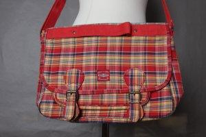 Süße rot-gelb-blau karierte Schultasche von Oilily