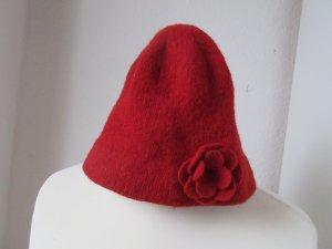 Süße roter Wollhut Wollmütze Bucket Hat