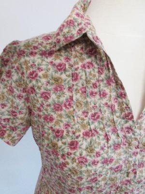 Süße s Oliver Bluse Rosa Blumen S 36 Flower Retro Hemd Rosen millefleur Shabby chic Kurzarmbluse Biesen