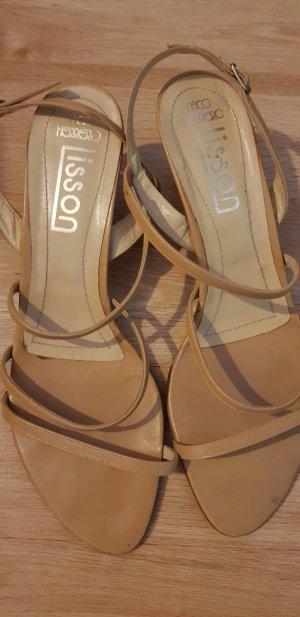 Paco Herrero High-Heeled Sandals beige