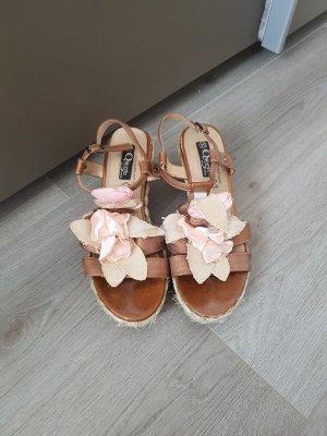 Platform High-Heeled Sandal multicolored mixture fibre