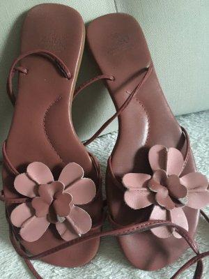 Süße Sandalen - rosa - Blümchen