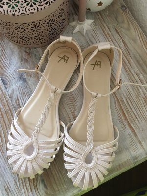 Anna Field Strapped Sandals white-gold-colored