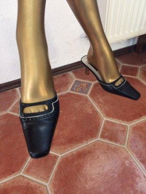 Mango Heel Pantolettes dark blue