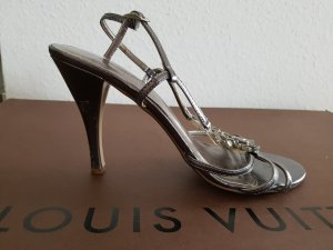 Jennifer Taylor High-Heeled Sandals silver-colored