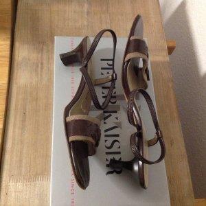 Süße Sandalette von Peter Kaiser, baun, Gr. 41