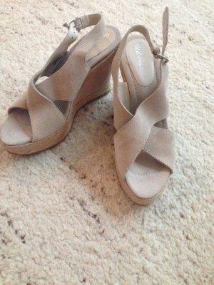 Süße Sandaletten-Wedges von Polo Ralph Lauren, Wildleder, ungetragen