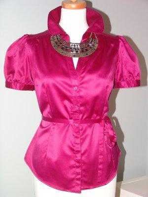 °°Süsse Satin Bluse, H&M, Gr.40, Pink, Magenta, Madonna-Kollektion°°°