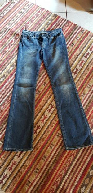 H&M Jeans flare bleu foncé
