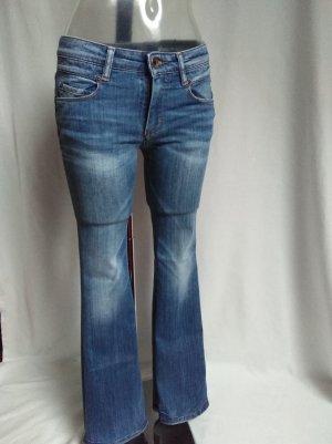 Marc O'Polo Jeans a zampa d'elefante blu-blu acciaio