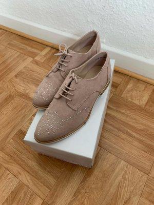 Graceland Business Shoes rose-gold-coloured textile fiber