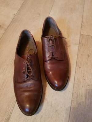 Tamaris Oxfords russet leather