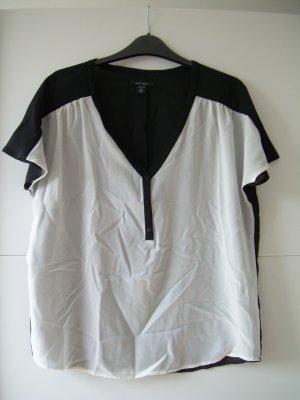 Süße schwarz-weiße Bluse kurzarm von Amisu Gr. M 38 Shirt