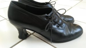Lace-up Pumps black leather