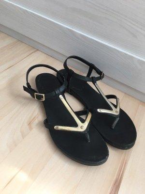 Deichmann Strapped Sandals black imitation leather