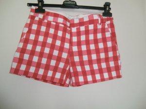 Süße Short kurze Hose rot-weiß kariert 5-Pocket Stil