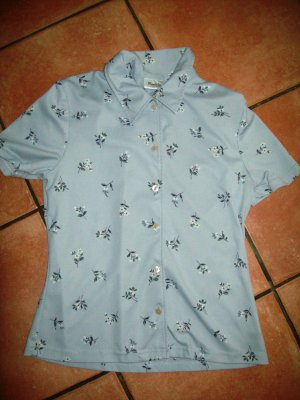 Süsse silber-graue Bluse mit Blumen von Pimkie in Gr. 36 TOP!