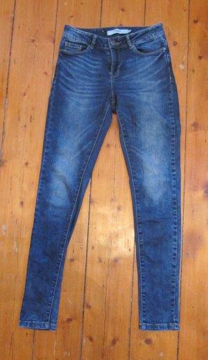 Süße Skinny Jeans Röhre Slim von Vero Moda VmSEVEN Dark Blue dunkle Waschung