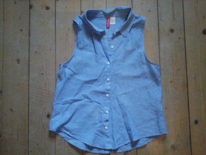 süsse Sommerbluse h&M Divided Gr. 34 XS jeansblau Top
