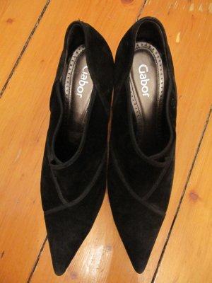 Süße spitze Stiefeletten Ankle Pumps von Gabor wie NEU Schwarz Größe 39,5