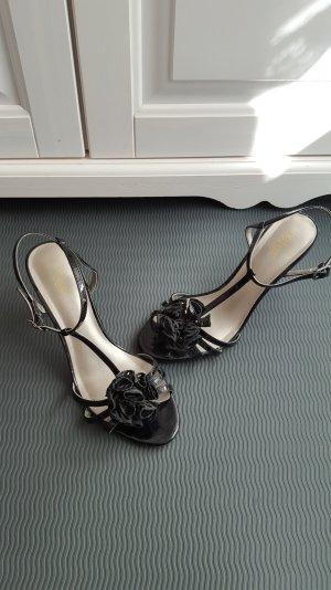 Süße Stilettos / High Heels, Gr. 39, Lackleder - mit Blüte von LOTUS
