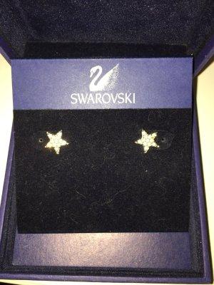 Swarovski Ear stud silver-colored-white