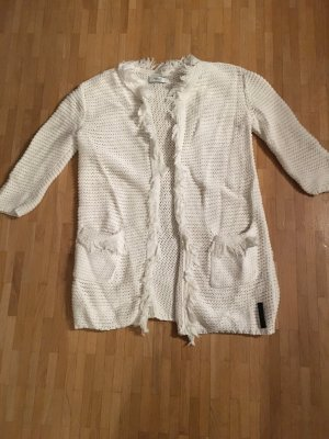 Replay Veste en tricot blanc