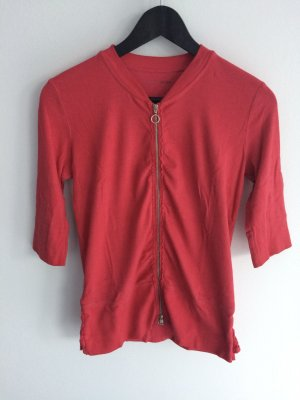 Süße Sweatjacke/Shirt von Marc Cain. Größe N3(38) rot